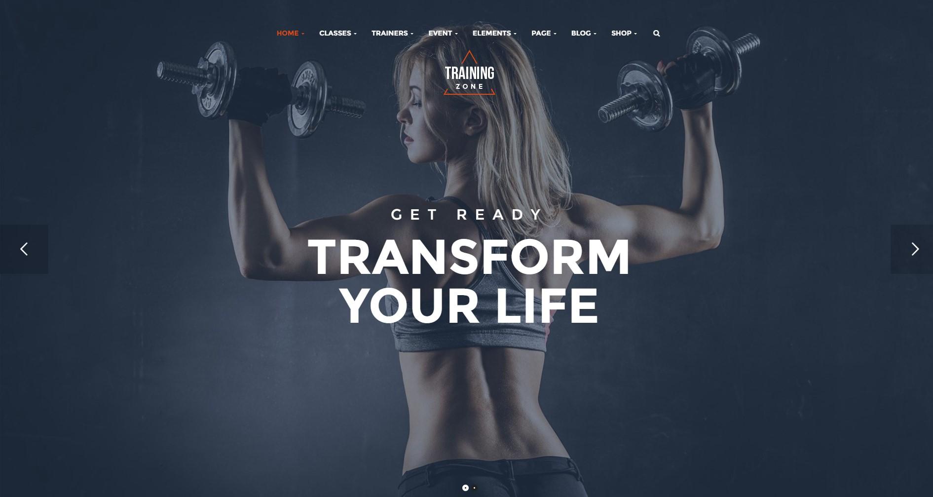 Training Zone – Gym & Fitness WordPress Theme
