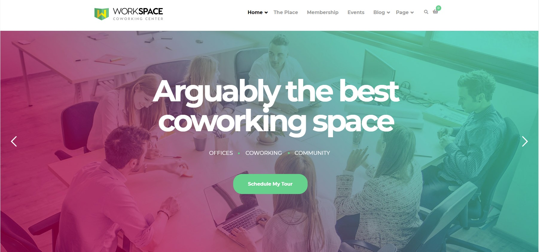Workspace – Creative Office Space WordPress Theme