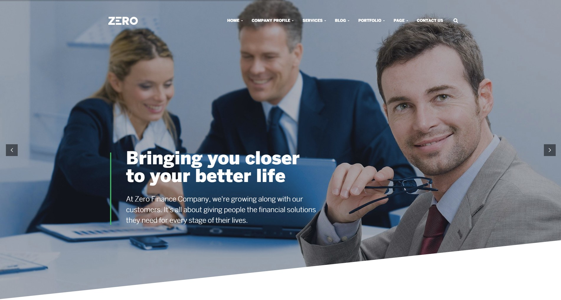 Zero - Corporate Creative WordPress Theme