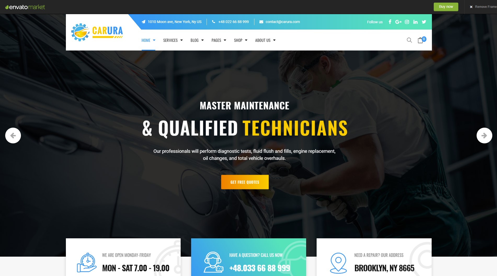 Carura Services and Business WordPress Theme