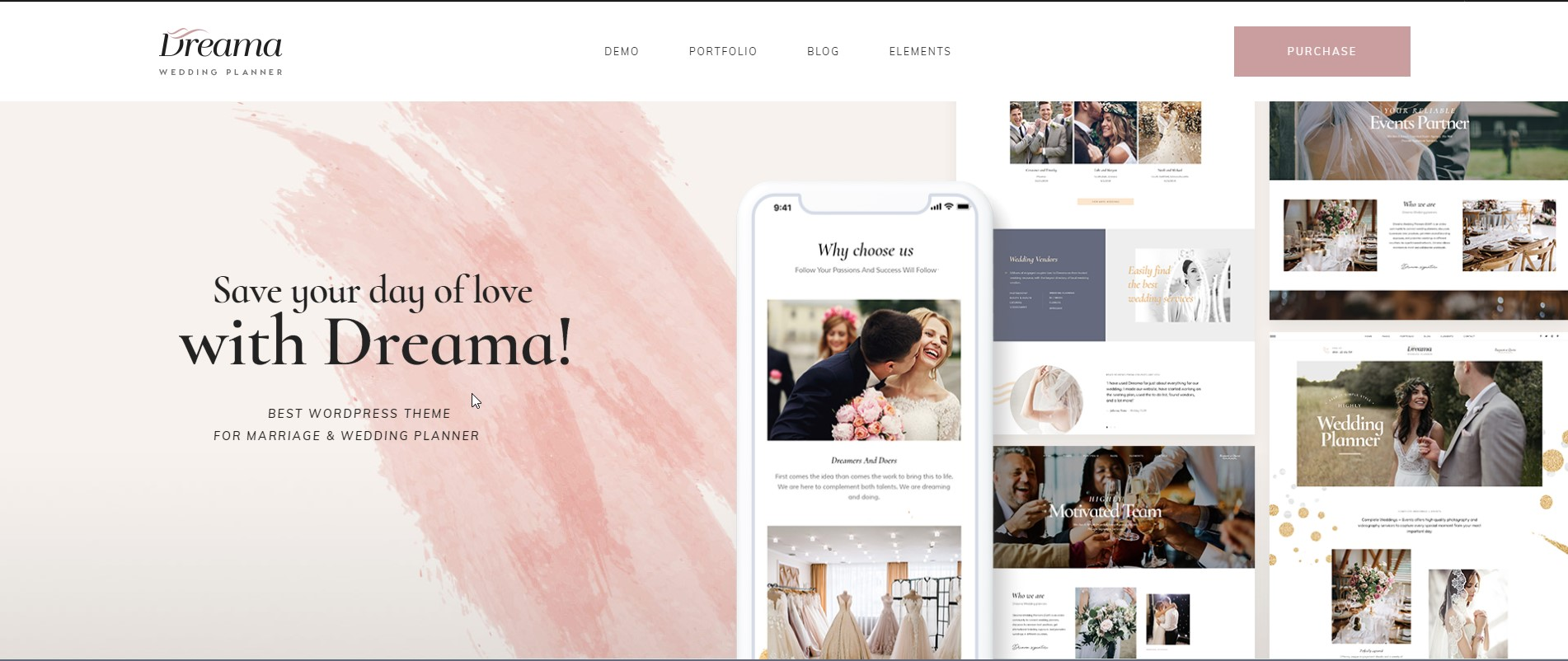 Dreama - Wedding WordPress Theme