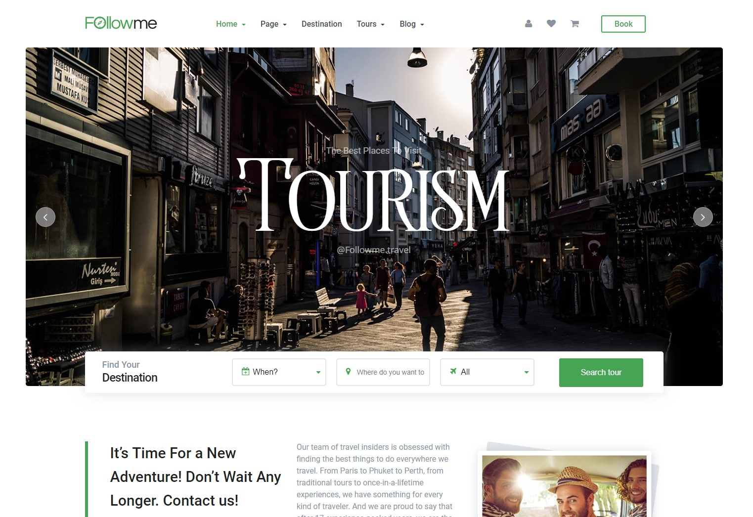 Followme - Free WordPress Theme Travel