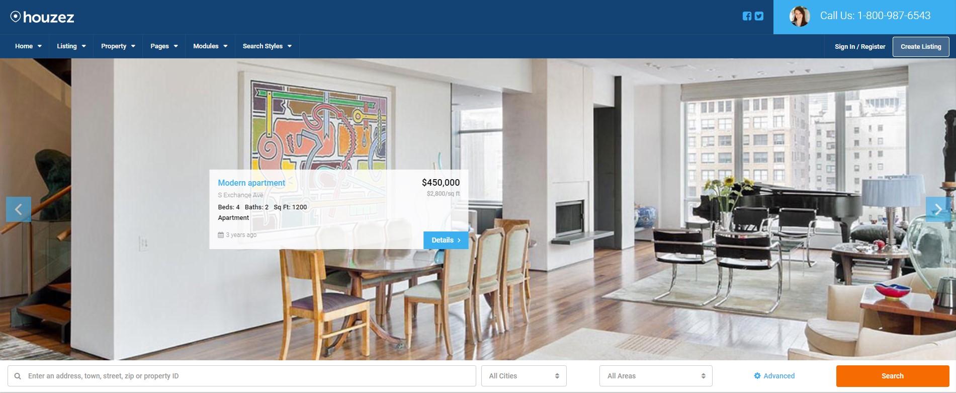 Real Home Real Estate WordPress Theme