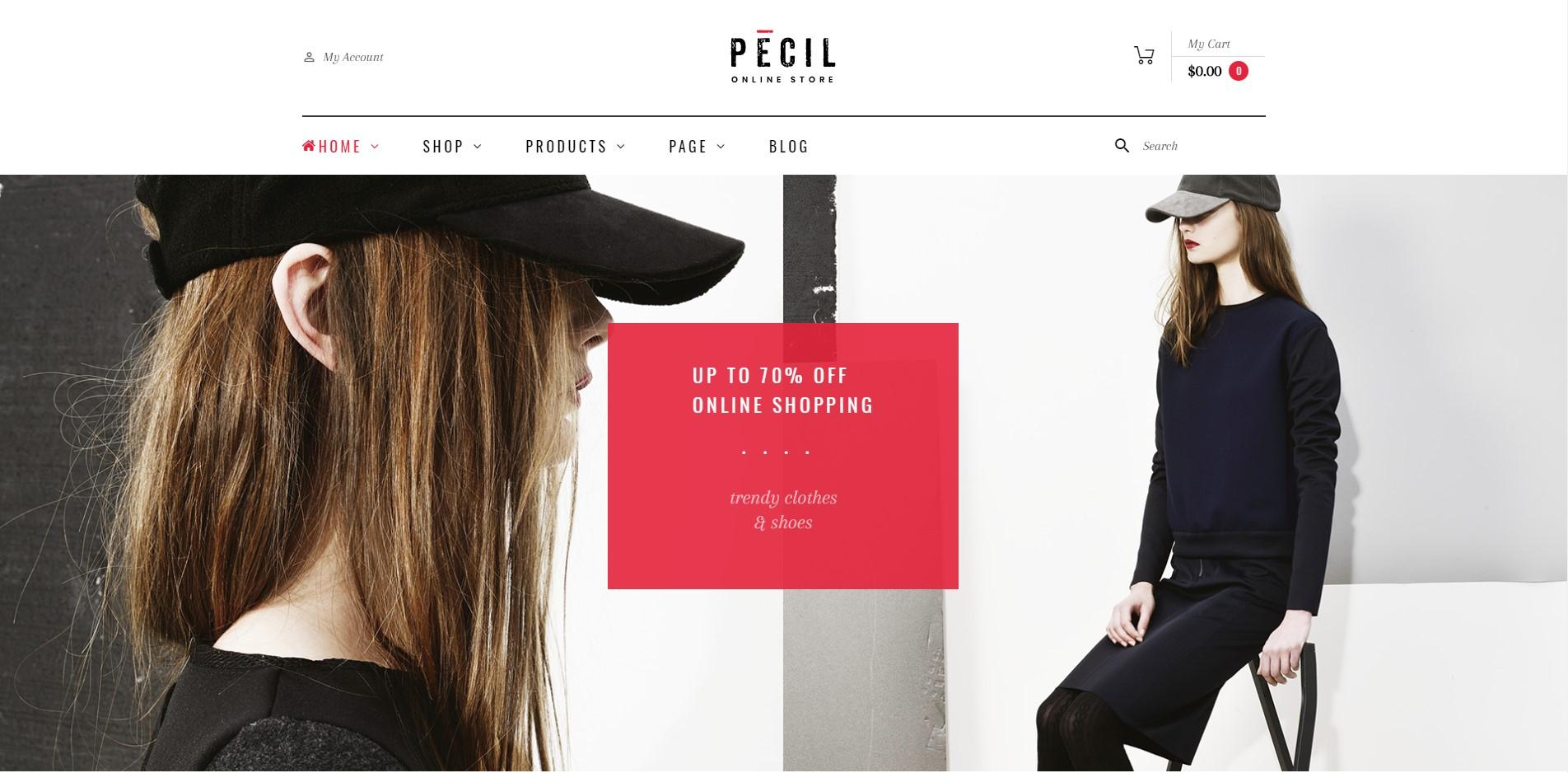 pecil best Ecommerce WordPress Themes