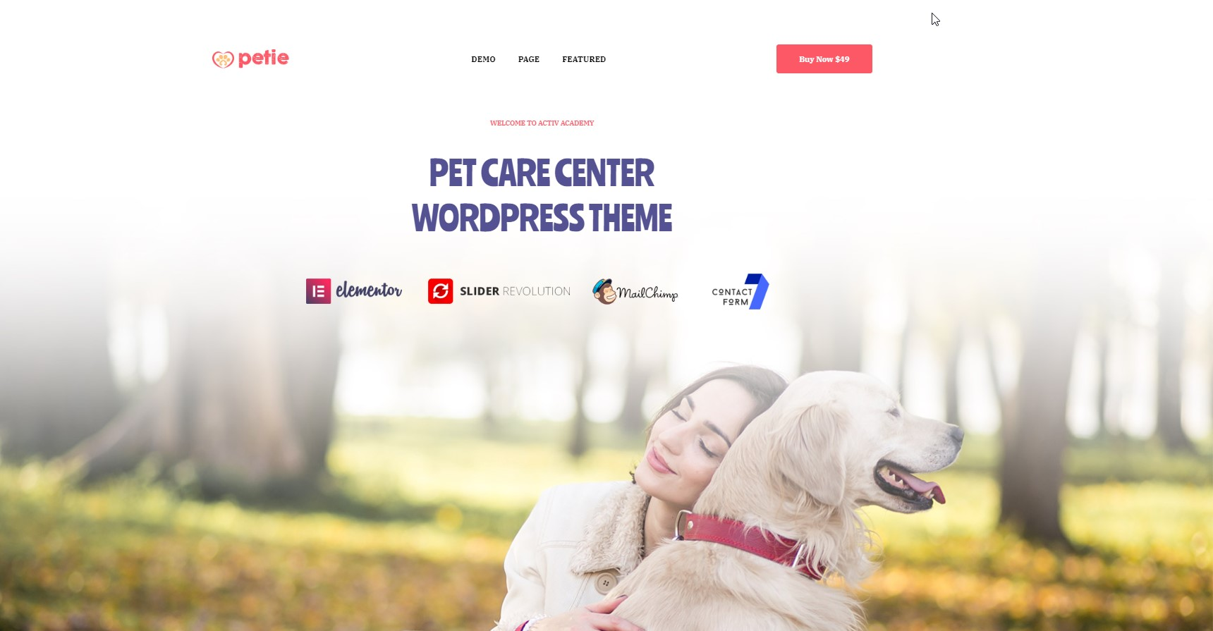 Petie - Pet Care Center WordPress Theme