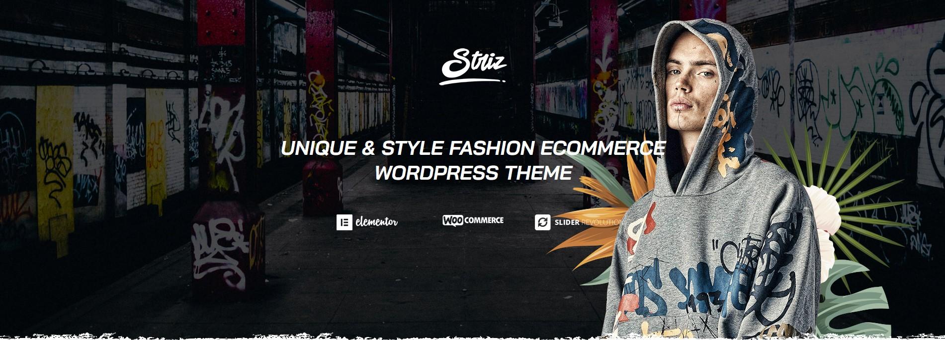 striz stress fashion wordpress theme