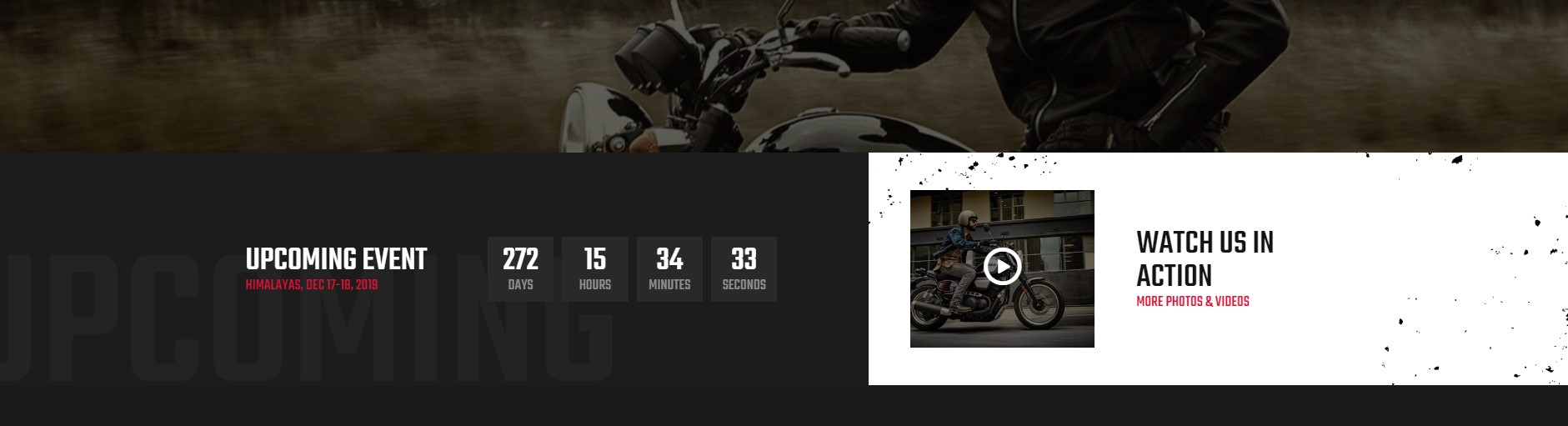 LexRider - best Motorcycle WordPress Theme - Fully Show-off Upcoming Events