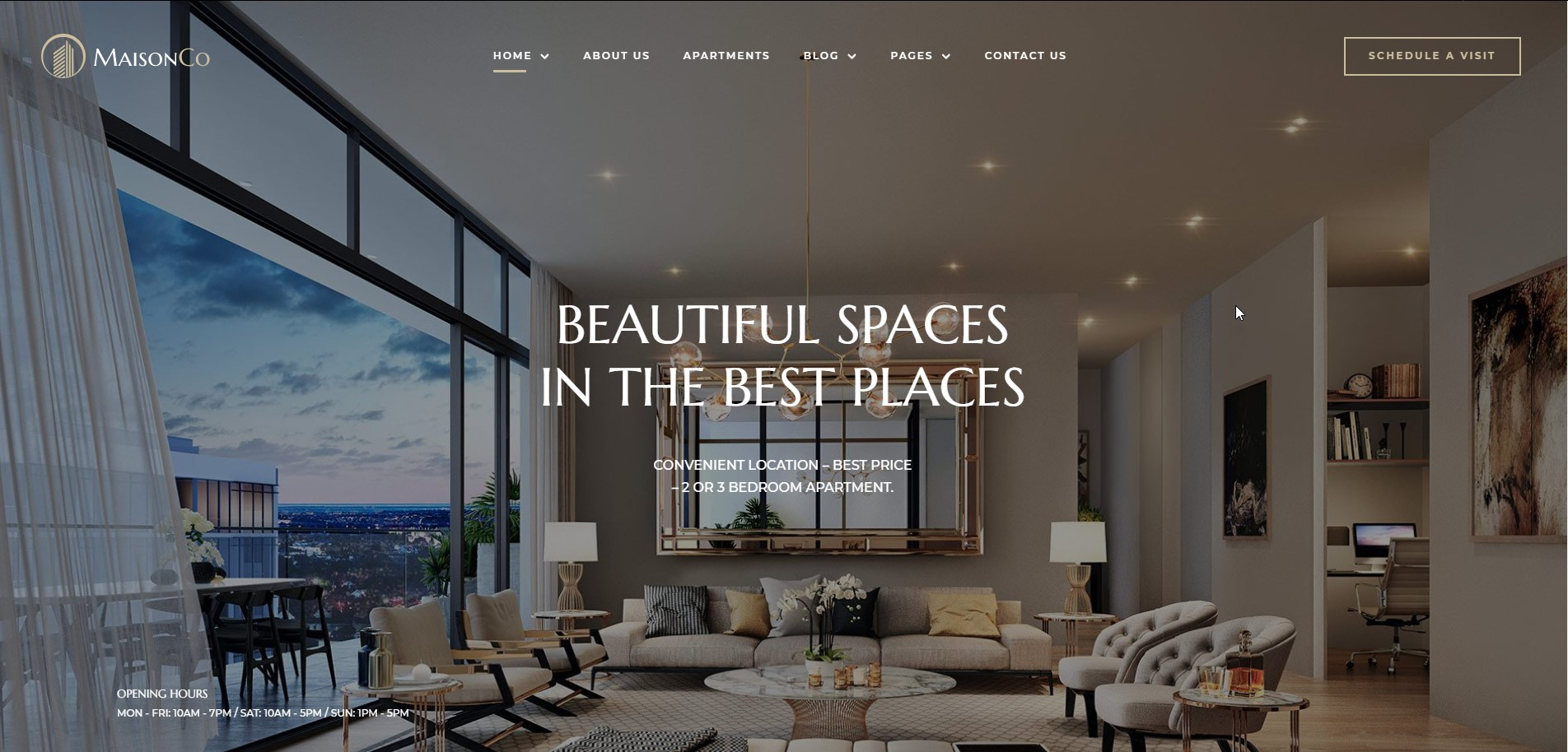 MaisonCo Single Property WordPress Theme