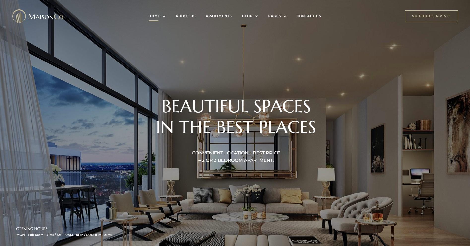 MaisonCo Single Property WordPress Theme