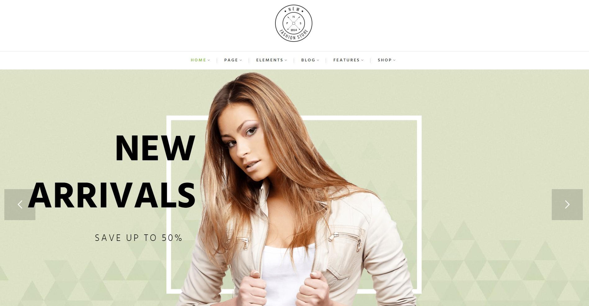 NewFashion Fashion Store WordPress Theme