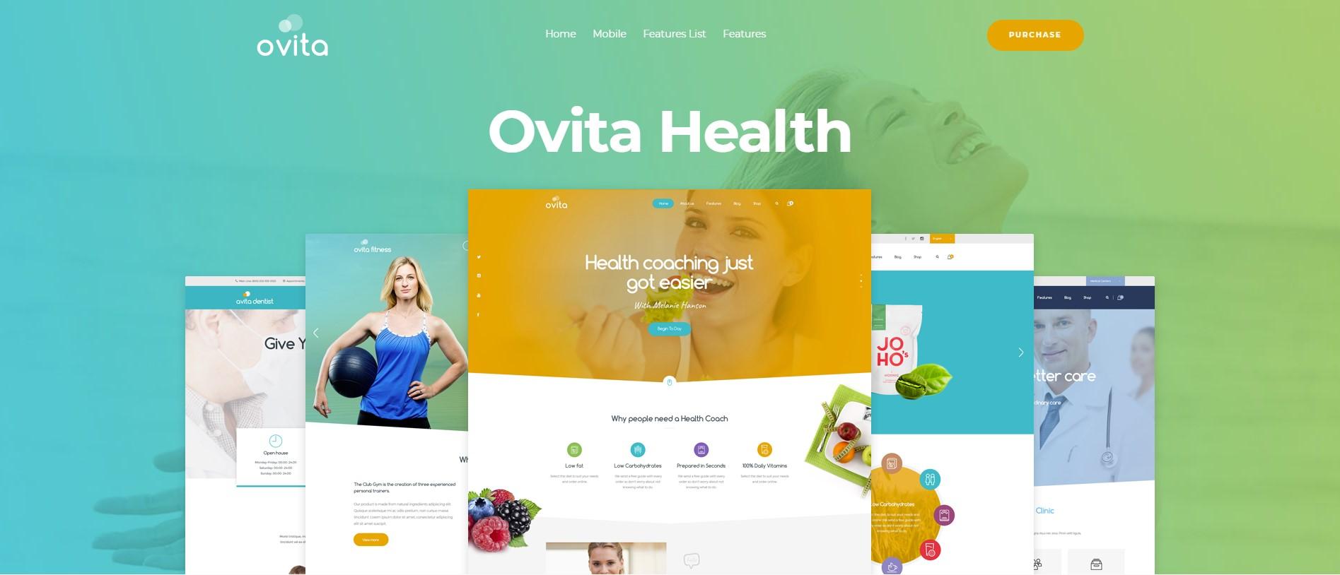 Ovitahealth Onepage Multipurpose WordPress Theme