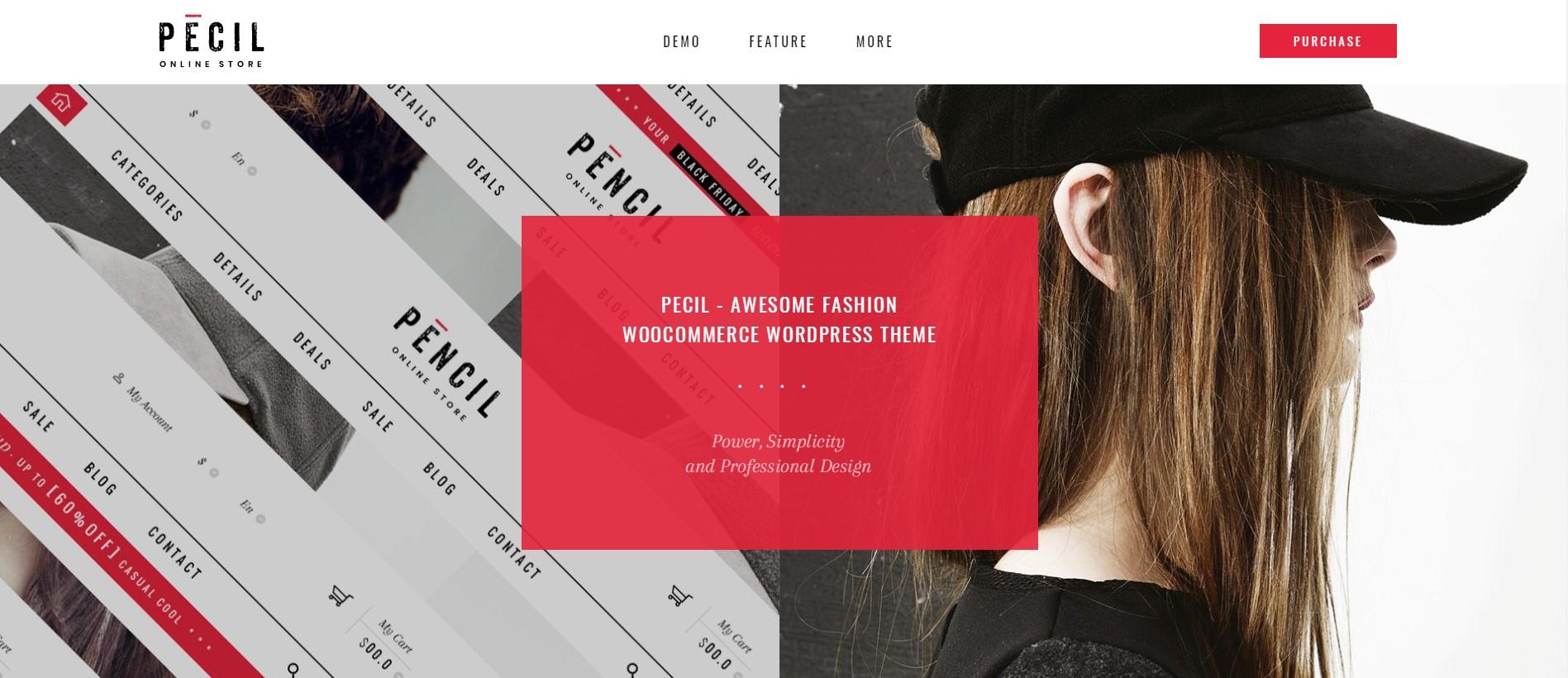 Pecil Fashion Store WordPress Theme