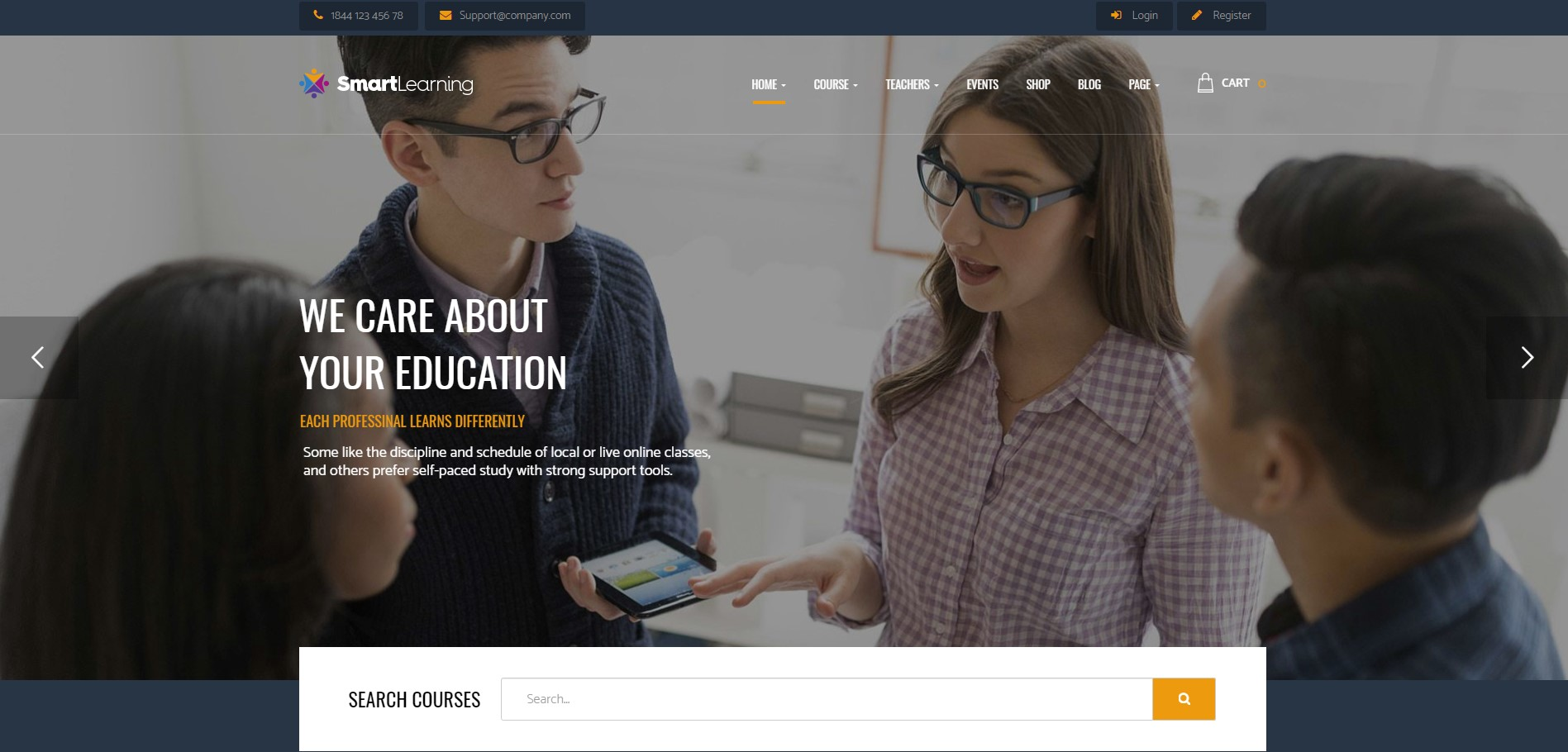 Smartlearning Education WordPress Theme