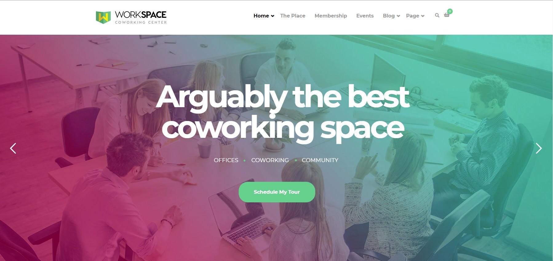 Workspace Creative Office WordPress Theme