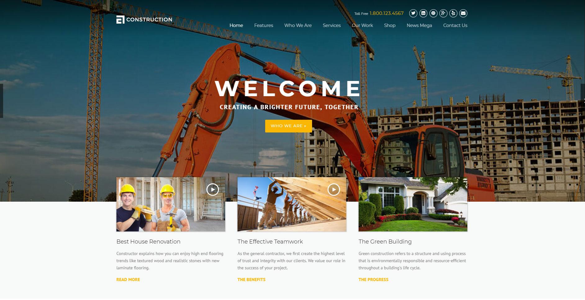 Top 10+ Construction & Engineering WordPress Themes