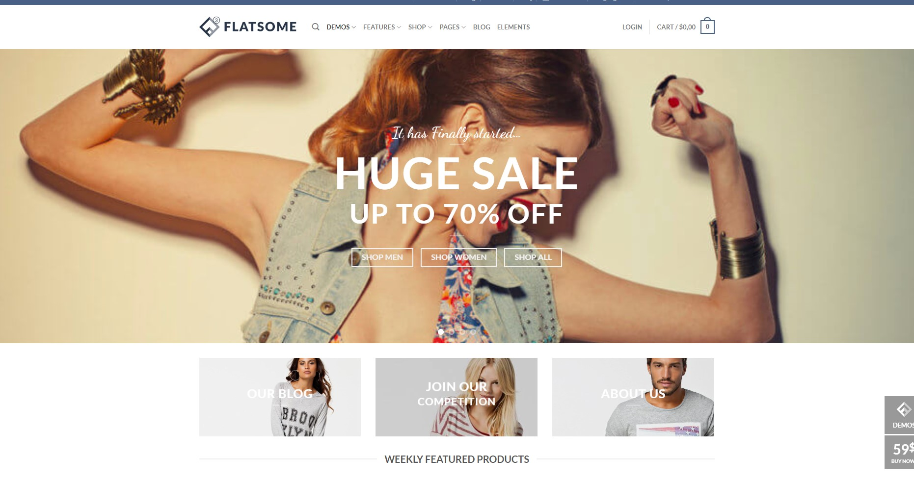 Flatsome Minimalist WordPress Theme