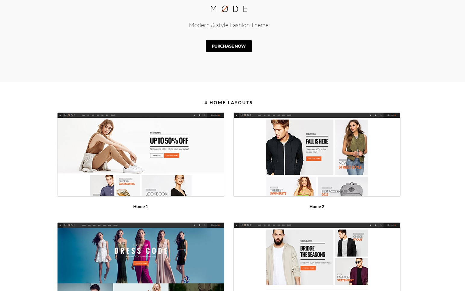 Mode - Minimalistic Modern Fashion WooCommerce WordPress Theme