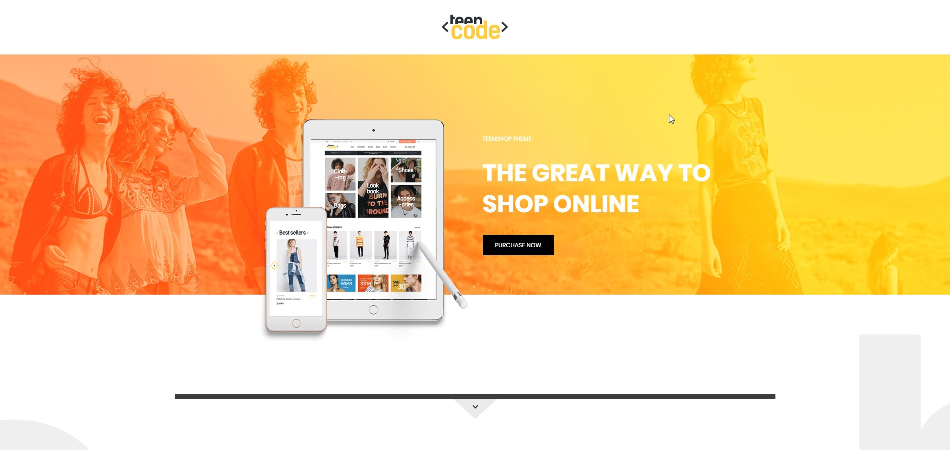 TeenCode - Clean Woocommerce Fashion WordPress Theme