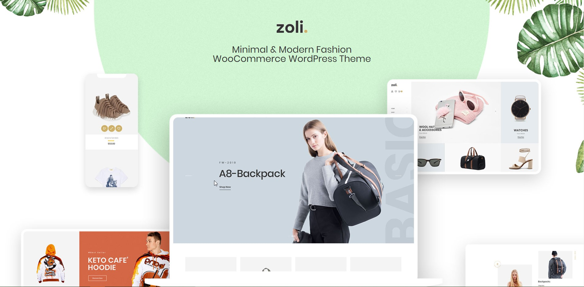 Zoli - Minimal & Modern Fashion WooCommerce WordPress Theme