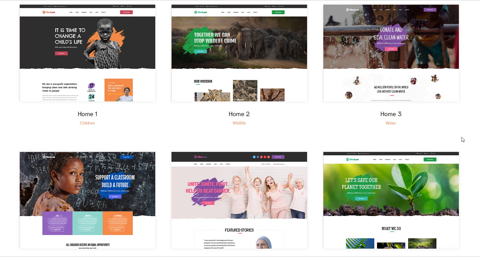 GiveLove - Non-Profit WordPress Theme