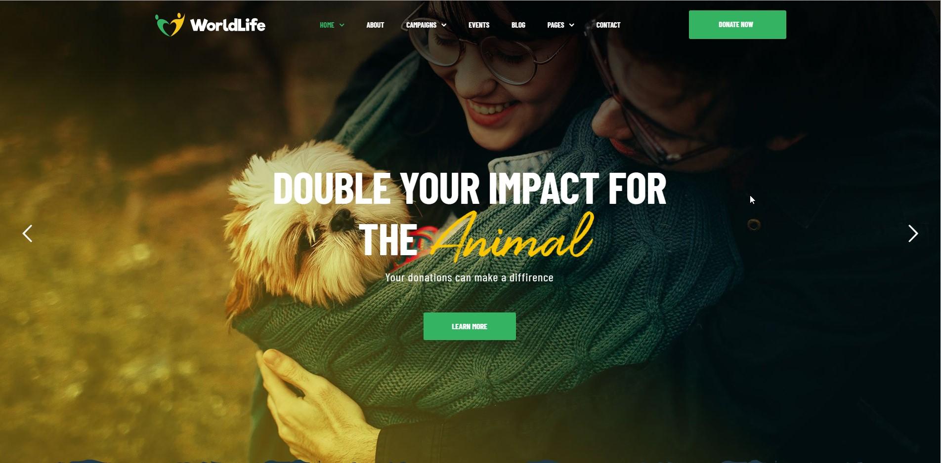 WorldLife - Crowdfunding WordPress Theme