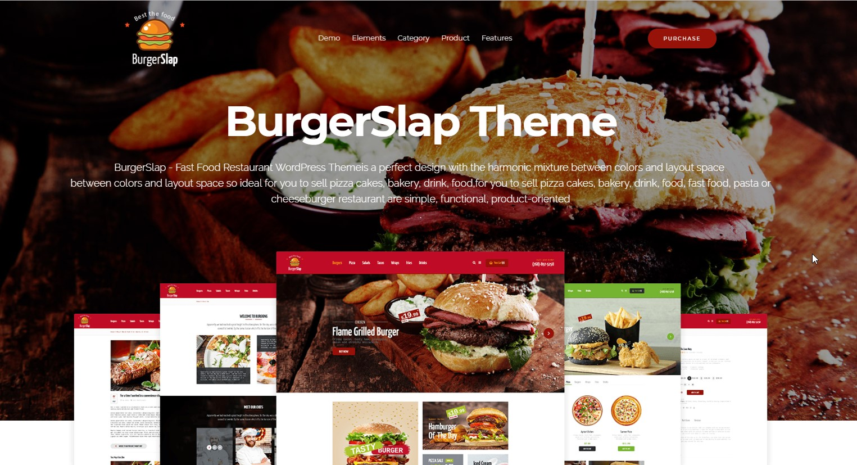 Burger Slap - Fast Food Restaurant WooCommerce WordPress Theme