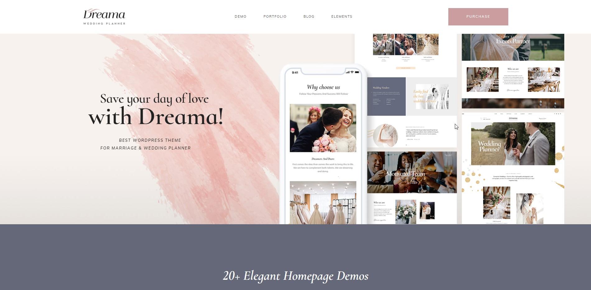 Dreama - Wedding WooCommerce WordPress Theme