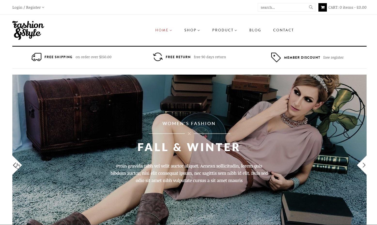 Fashion - Fashion WooCommerce WordPress Theme