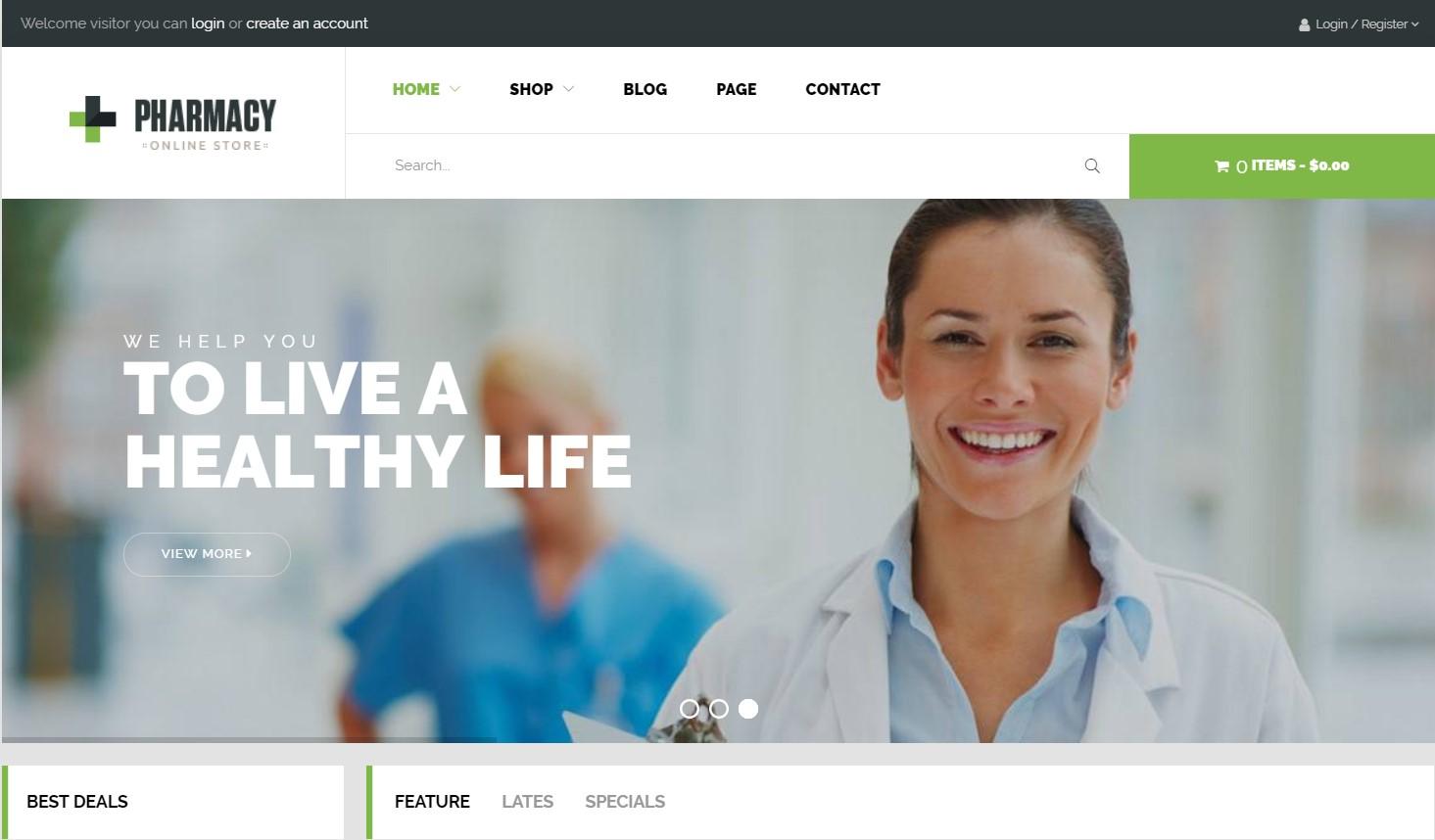 Pharmacy WooCommerce WordPress Theme