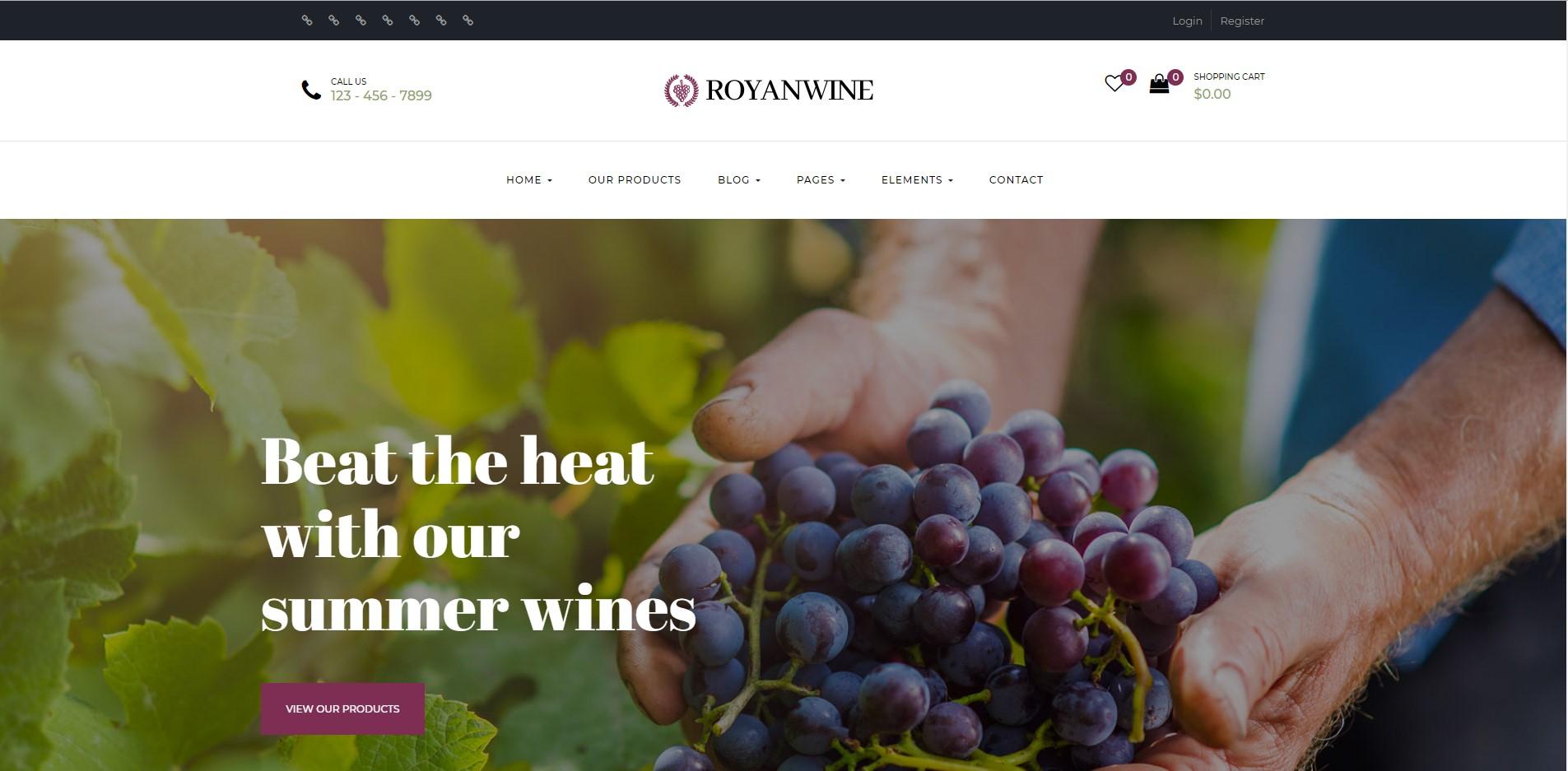Royanwine - Wine WooCommerce WordPress Theme