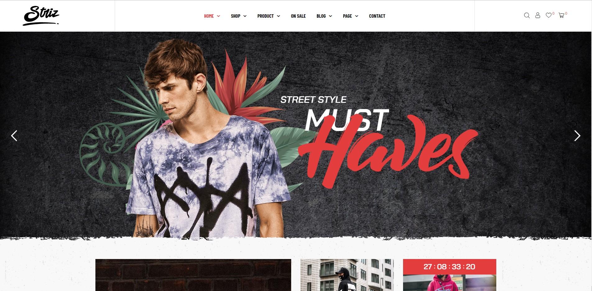 Striz - Fashion WooCommerce WordPress Theme