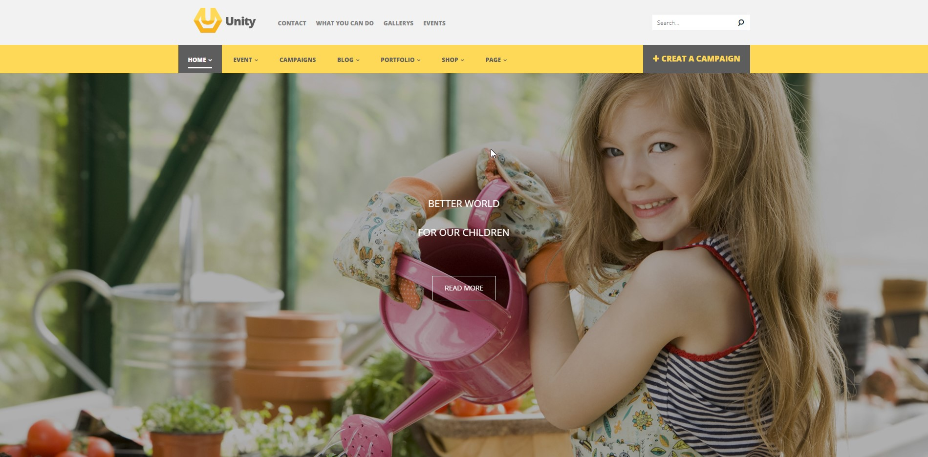 Unity - WordPress Crowdfunding WooCommerce Theme