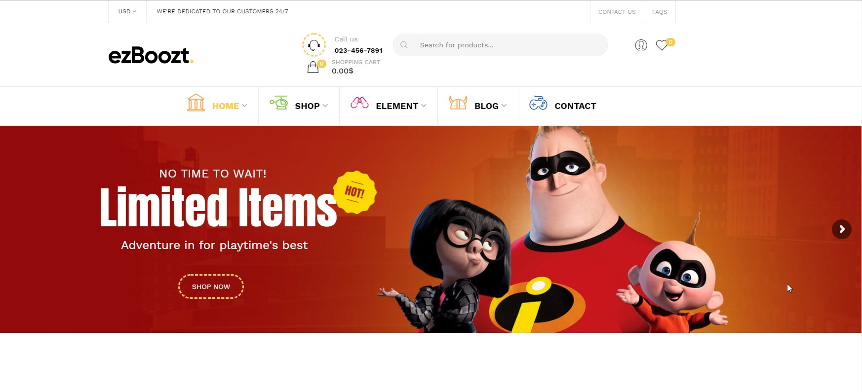 ezBoost - All-in-one WooCommerce Theme