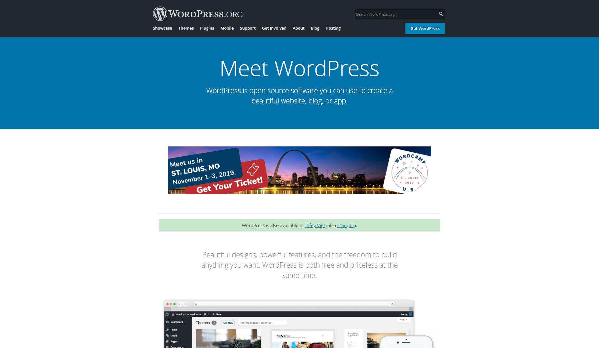 WordPress - Best Free Content Management System