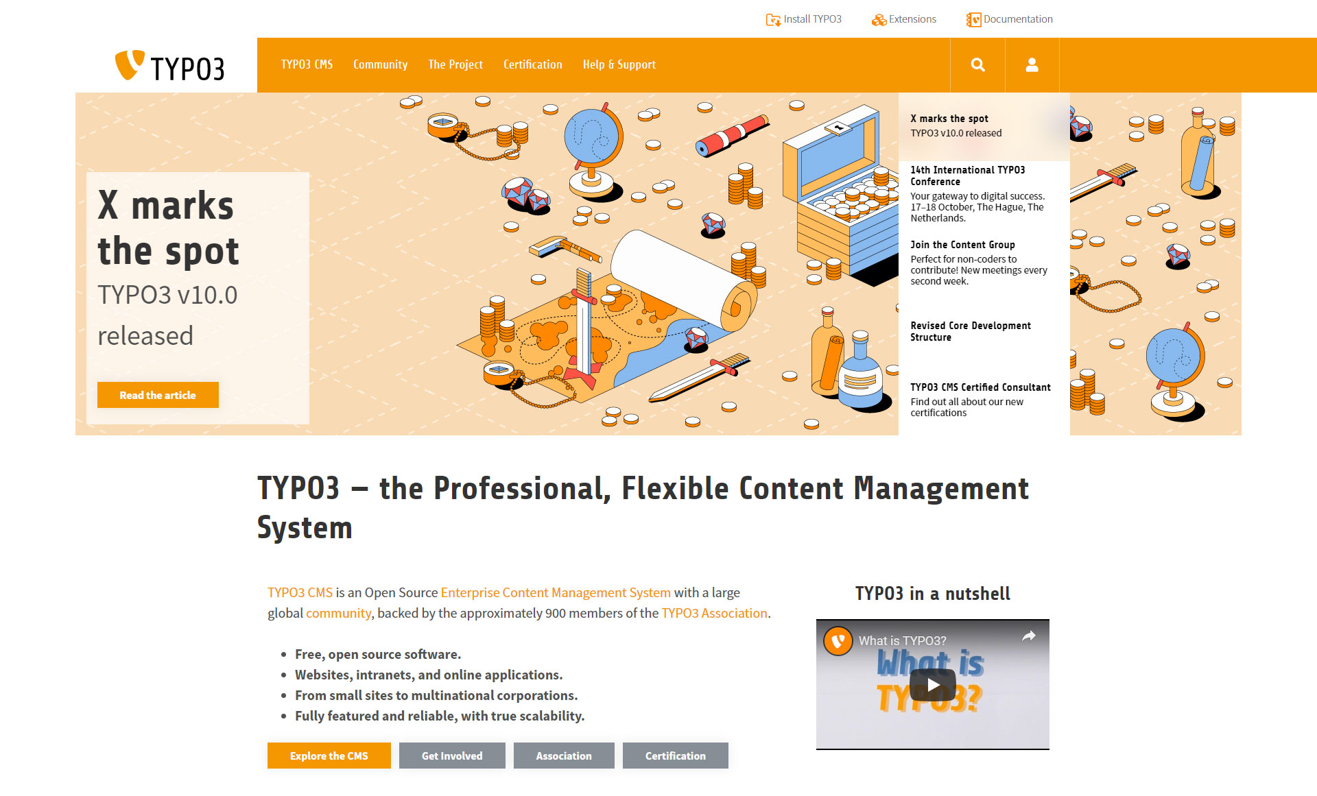 TYPO3 CMS - Best Free Content Management System