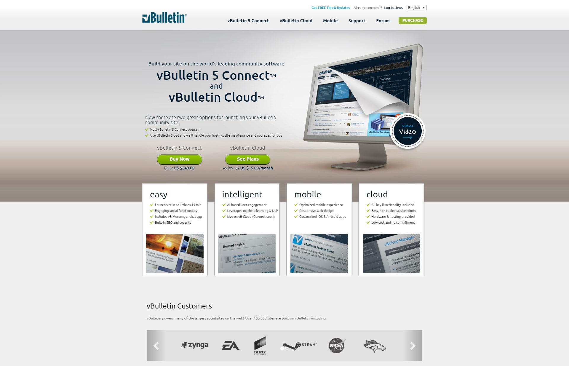 vBulletin - Best Free Content Management System