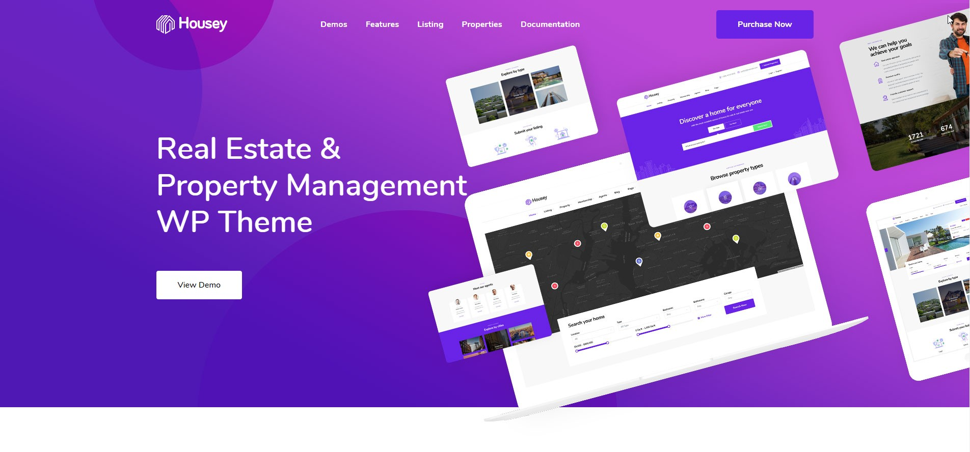 Housey - Real Estate & Property Management WordPress Theme