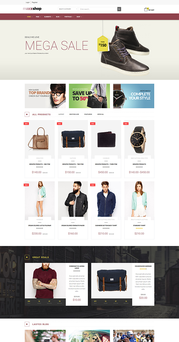 Responsive WooCommerce theme for fashion
