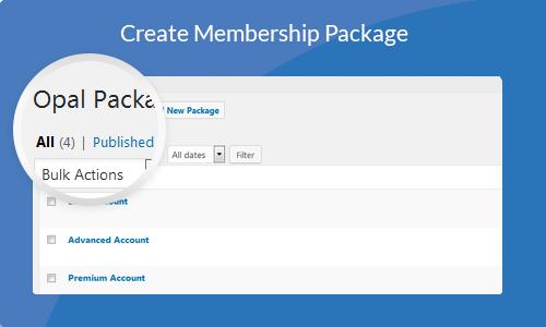 Create Membership Package
