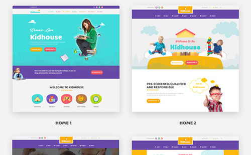 4 Homepage Demos