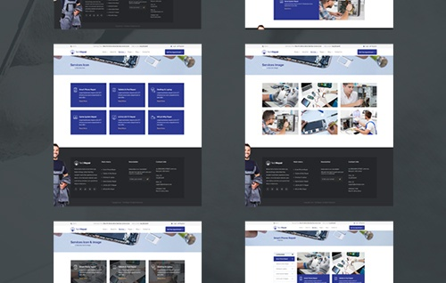 Multi Services Page Layouts