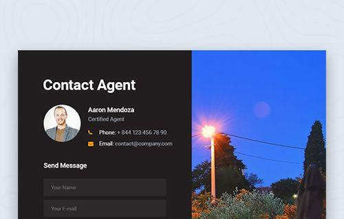 17. Contact Agent Info Showcase