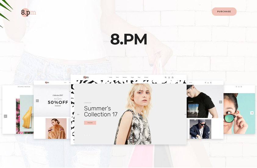 eightpm free fashion woocommerce wordpress theme