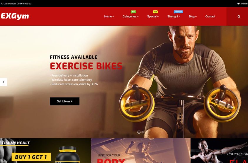 exgym gym woocommerce theme
