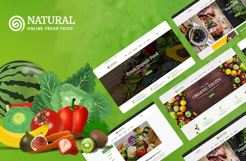 natural free food wordpress theme