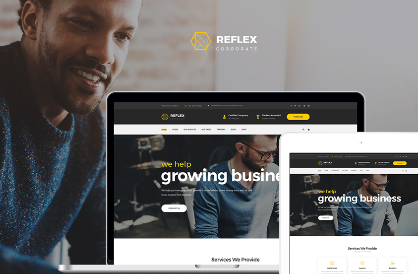 reflex corporate business wordpress theme