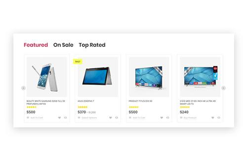 Clearly Showing On- sale and Top- rated Products