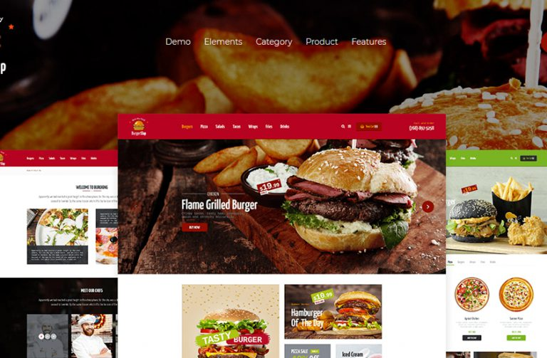 burger slap food wordpress theme