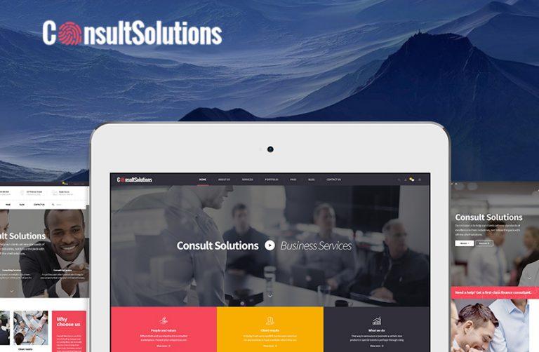 consultsolution consult corporate wordpress theme