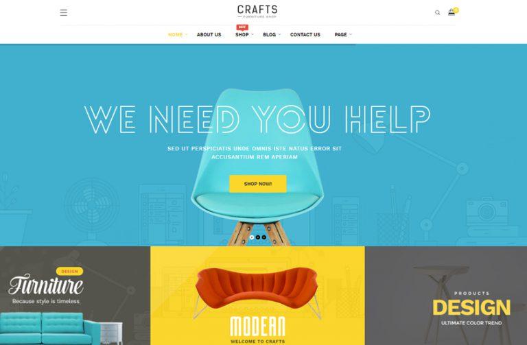 crafts furniture woocommerce wordpress theme